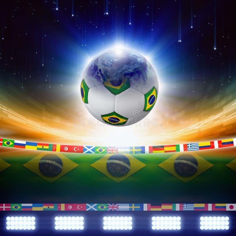 2014 het voetbal van Brazilië royalty-vrije illustratie