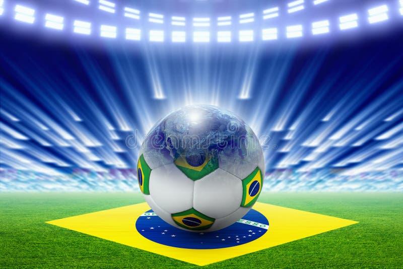 Het voetbal van Brazilië royalty-vrije illustratie