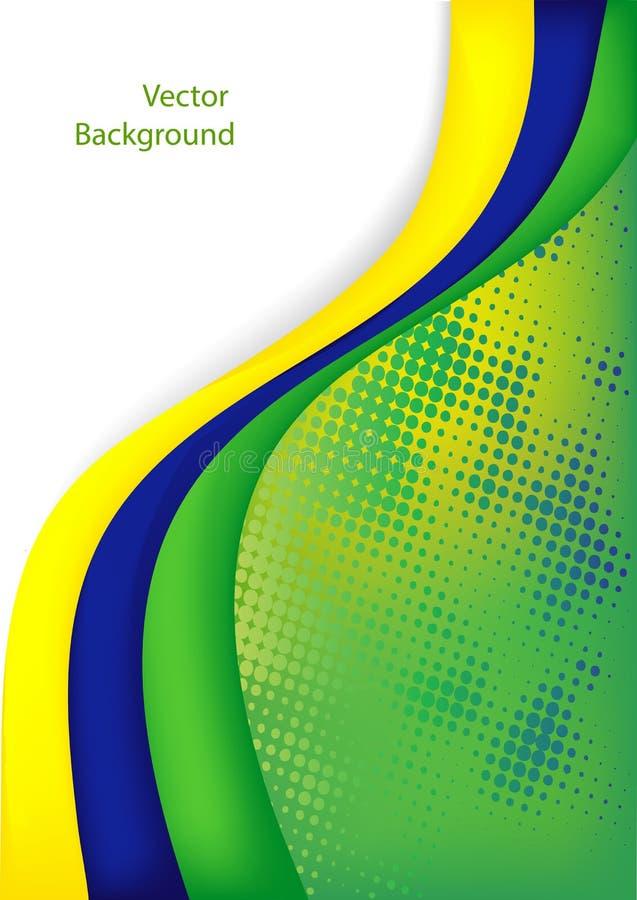 Het voetbal van Brazilië stock illustratie