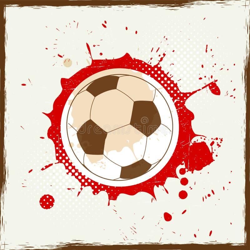 Het voetbal van de Grungeplons vector illustratie