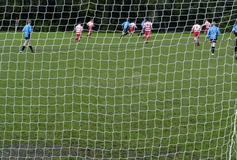 Het Voetbal van de Ochtend van de zondag stock afbeelding