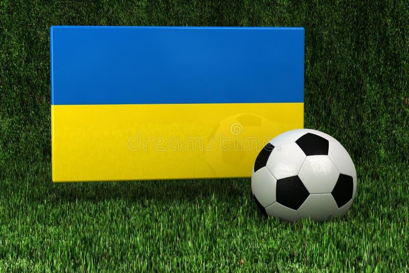Het Voetbal van de Oekraïne royalty-vrije illustratie