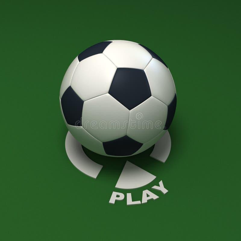 Het voetbal van het spel stock illustratie