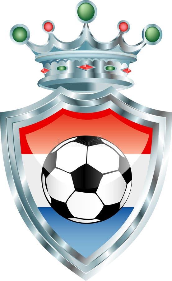 Het voetbal van Holland stock illustratie