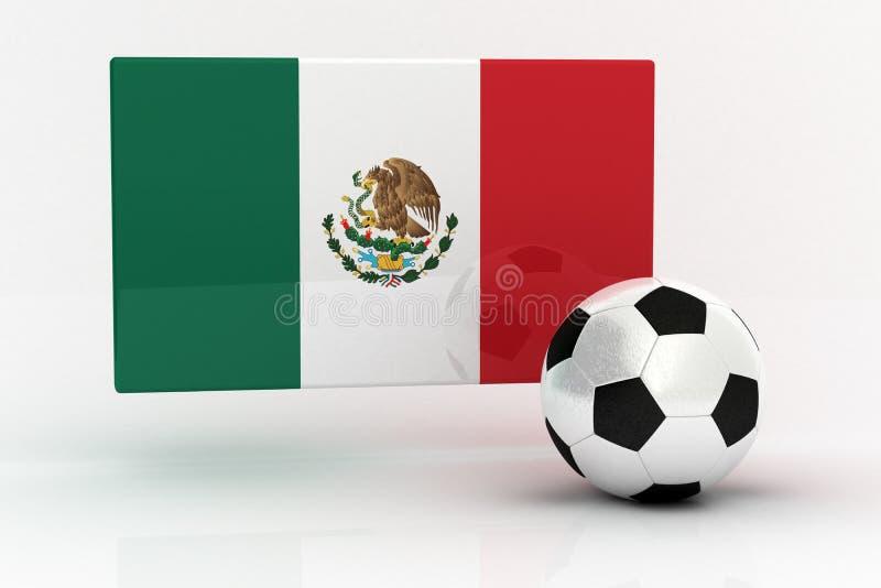 Het Voetbal van Mexico royalty-vrije illustratie