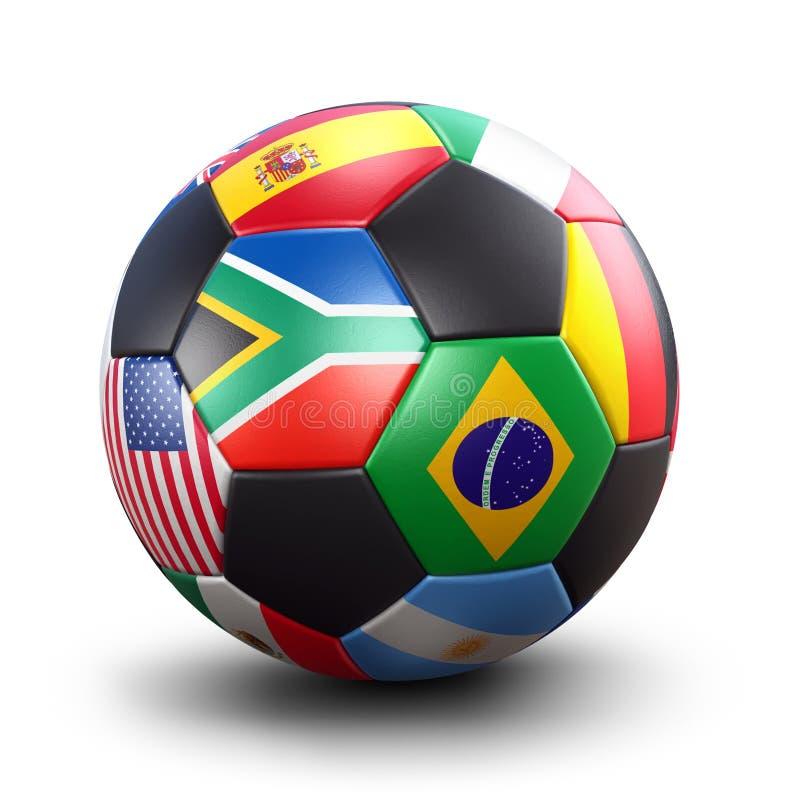 Het voetbalbal van de Kop van de wereld royalty-vrije illustratie