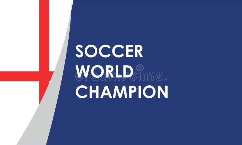 Het voetbalbal van Engeland op gebied in voetbalstadion om voor voetbalwedstrijdresultaat met vlek lichte achtergrond te vieren O stock illustratie