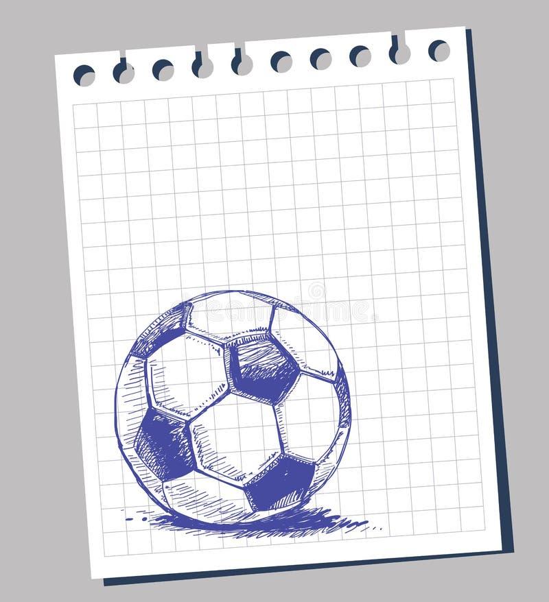 Het voetbalbal van het gekrabbel vector illustratie
