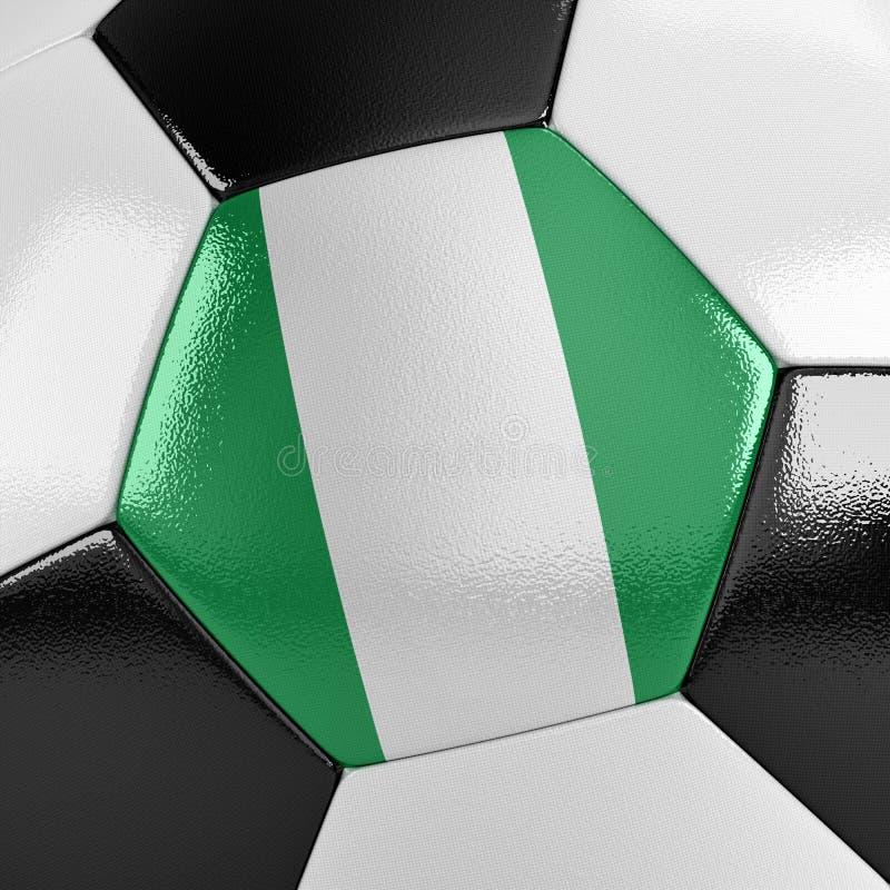 Het Voetbalbal van Nigeria stock illustratie