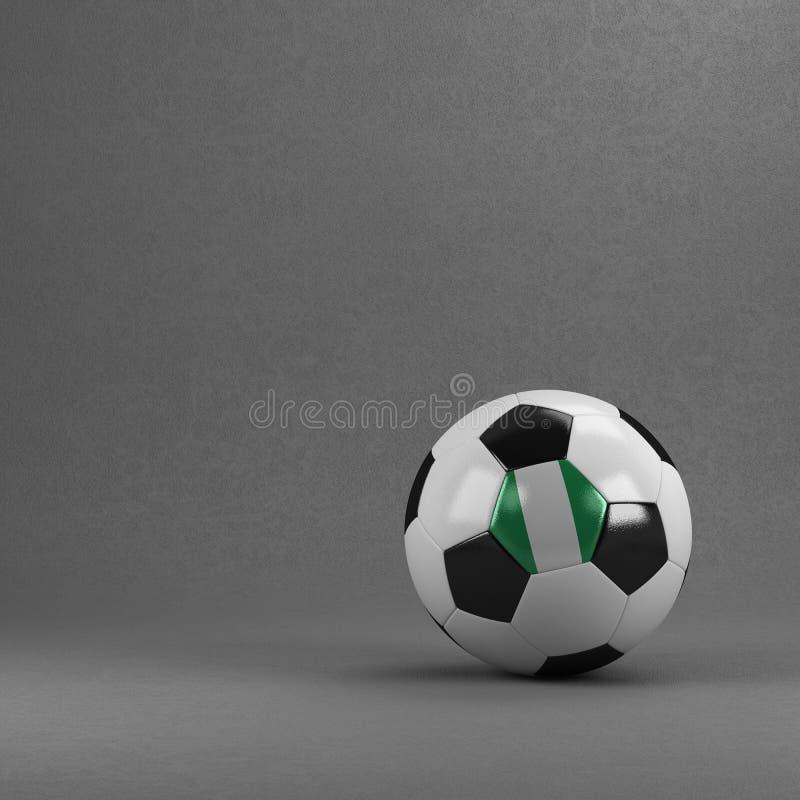 Het Voetbalbal van Nigeria royalty-vrije illustratie