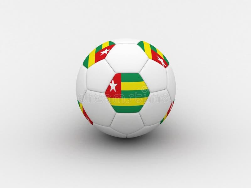 Het voetbalbal van Togo stock illustratie