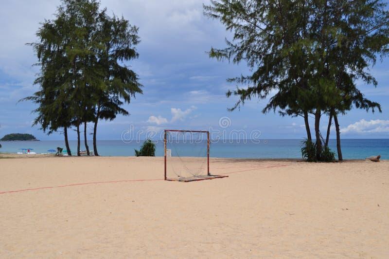 Het voetbaldoelstellingen van de strandvoetbal royalty-vrije stock foto