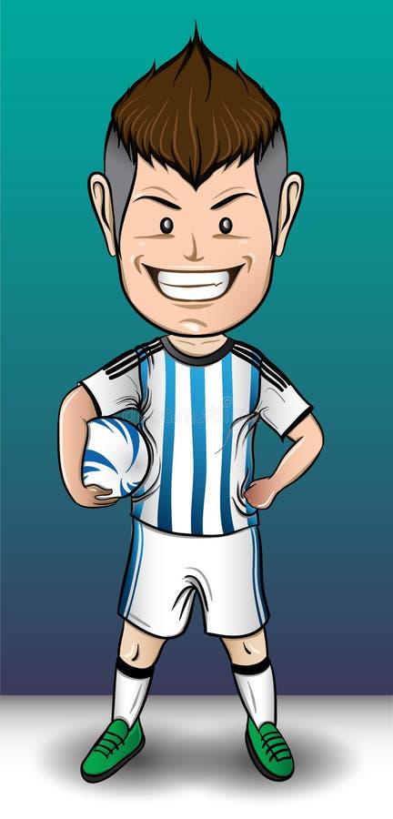 Het Voetbaljongen van Argentinië stock afbeeldingen