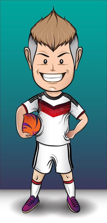 Het Voetbaljongen van Duitsland royalty-vrije stock afbeeldingen