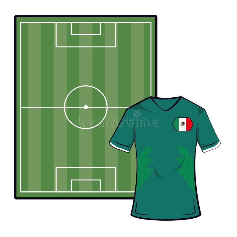 Het voetbalt-shirt van Mexico vector illustratie