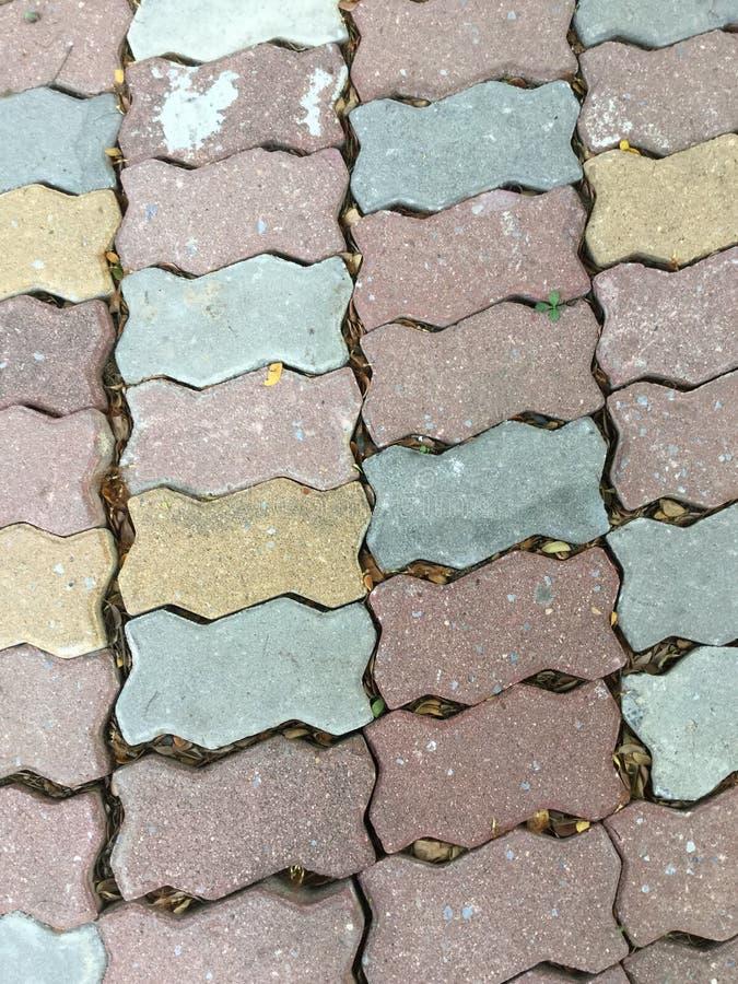 Het voetpad van de steenbaksteen stock afbeeldingen