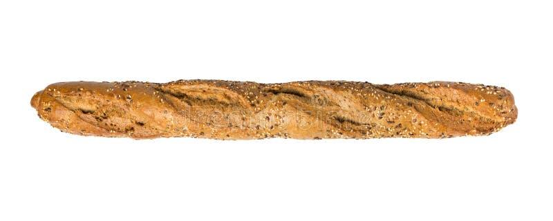Het volkorenmeel van het Baguettebrood royalty-vrije stock foto's