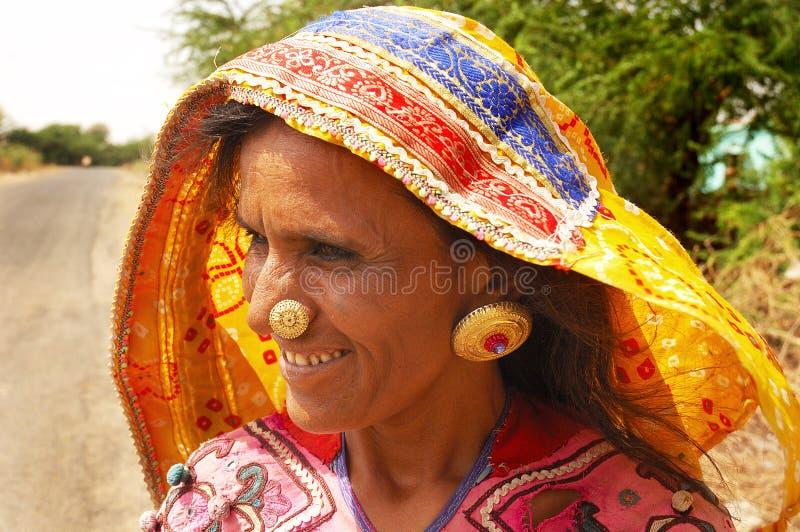 Het volks Leven in Gujarat stock afbeelding