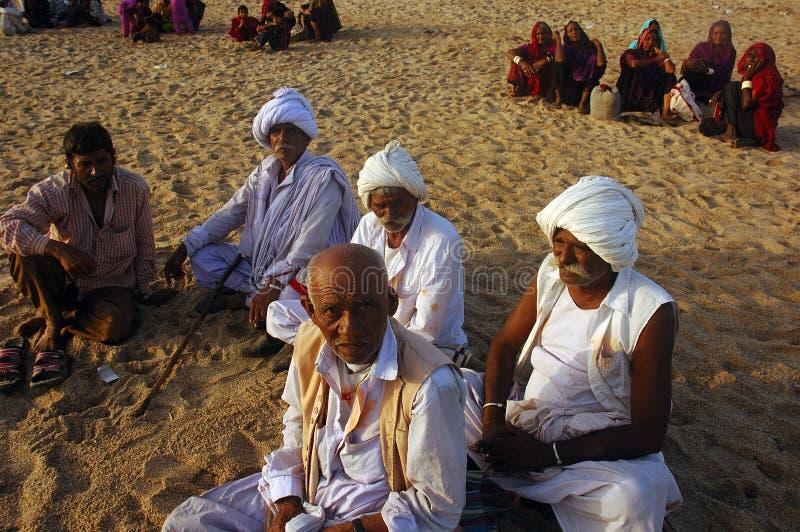 Het volks leven in Gujarat-India stock foto's