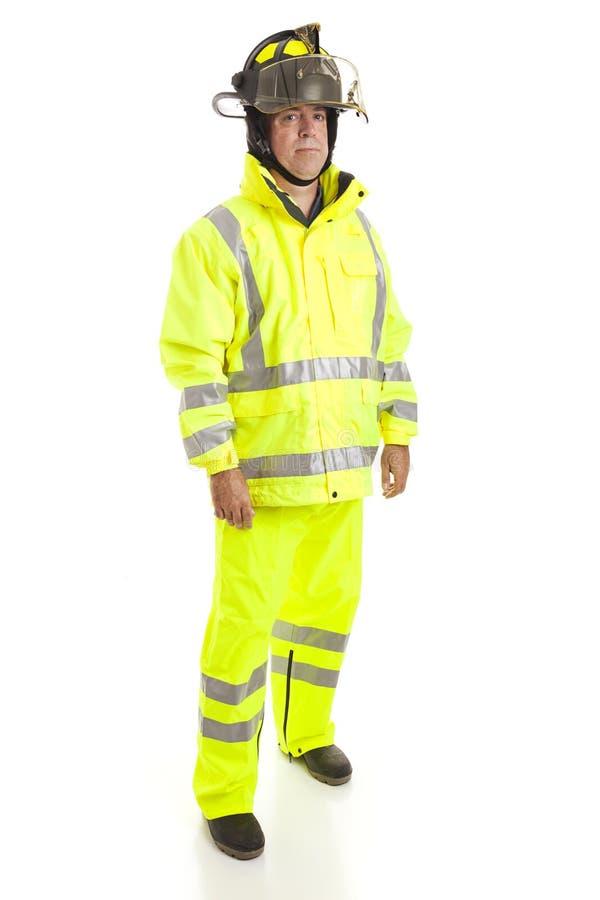 Het Volledige Geïsoleerdej Lichaam van de brandbestrijder royalty-vrije stock foto