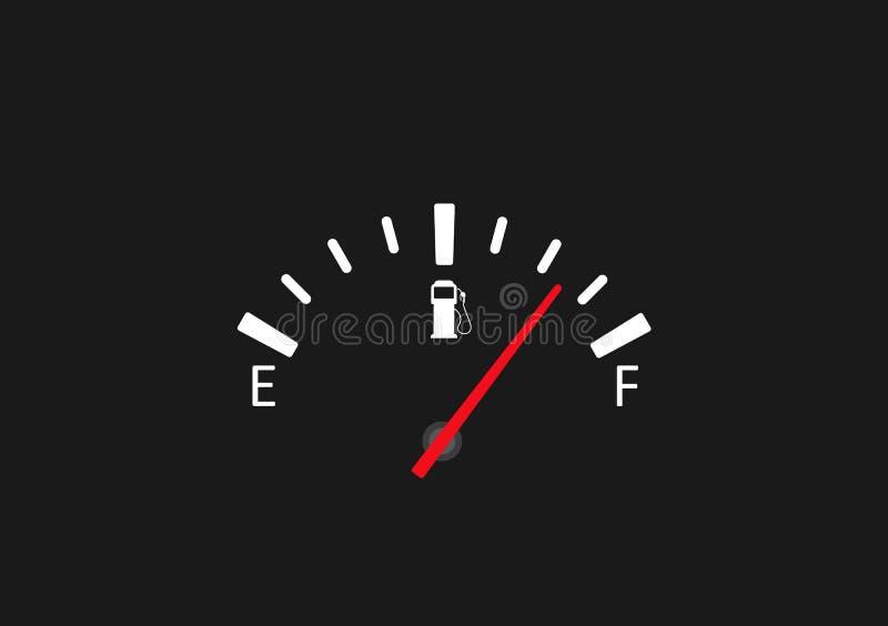 Het volledige pictogram van de brandstofmaat Vectorillustratieconcept vector illustratie