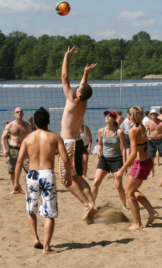 Het Volleyball Summerfest van de hoop stock foto's