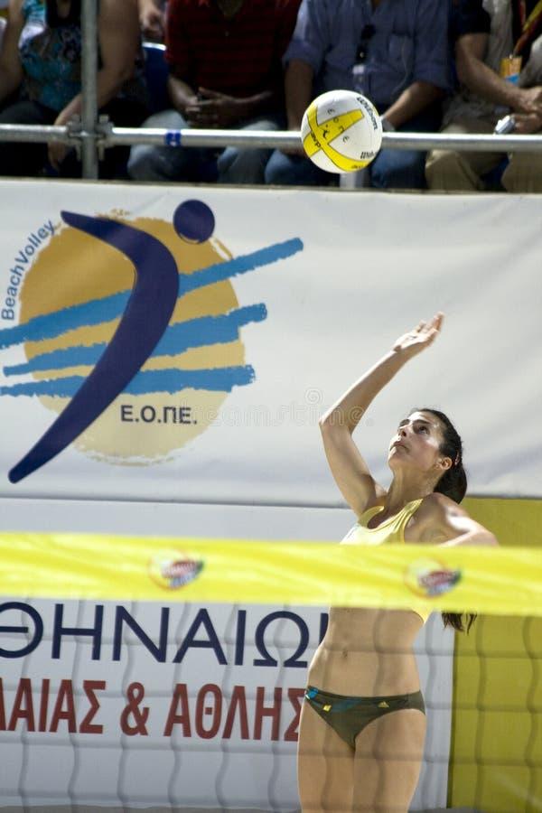 Het volleyball van het strand stock afbeelding