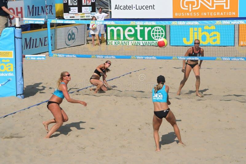 Het Volleyball van het strand royalty-vrije stock afbeeldingen