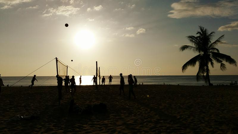 Het volleyball van het strand Phuket stock fotografie
