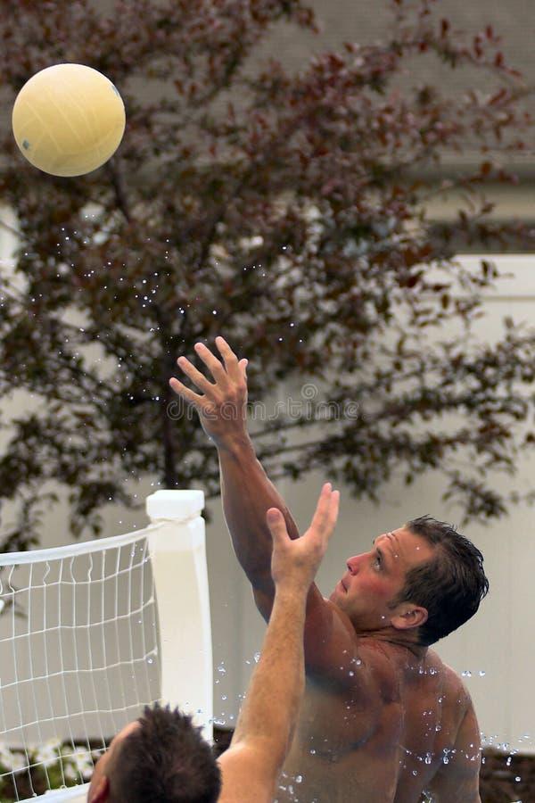 Het Volleyball van het water stock fotografie