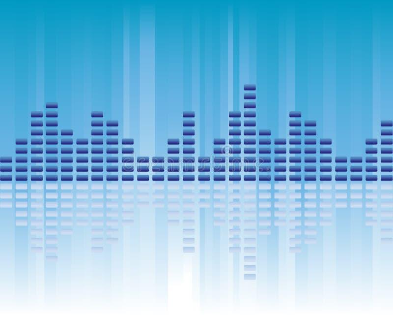 Het volume van de muziek stock illustratie