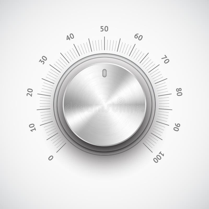 Het volumeknop van het chroom royalty-vrije illustratie