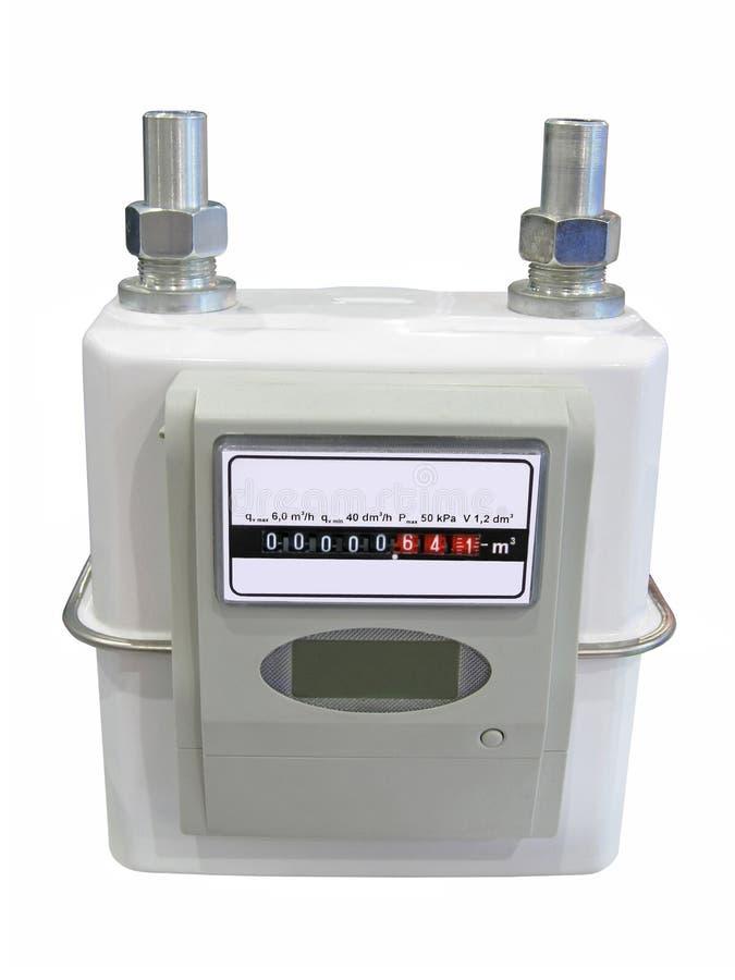 Het volumemeter van de energie, geïsoleerdeh machtsconsumptie, stock foto's