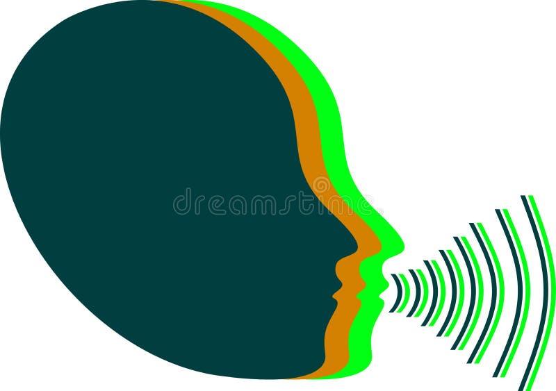 Het volumepictogram van de stem vector illustratie
