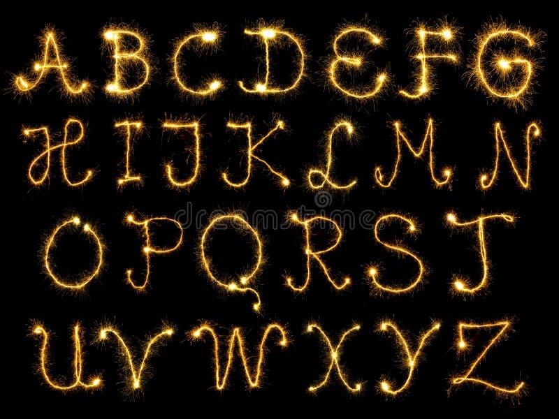 Het vonken van alfabet stock illustratie
