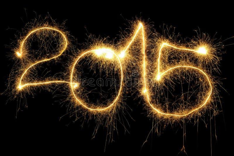 Het vonken van het Jaar van 2015 royalty-vrije stock foto