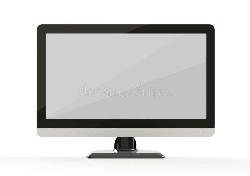 Het vooraanzicht van de computermonitor royalty-vrije illustratie