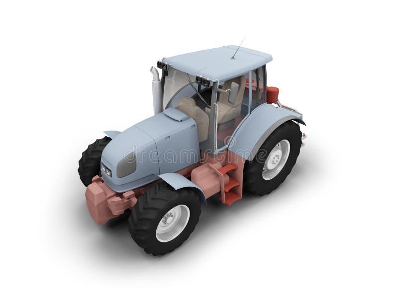 Het vooraanzicht van de tractor stock illustratie