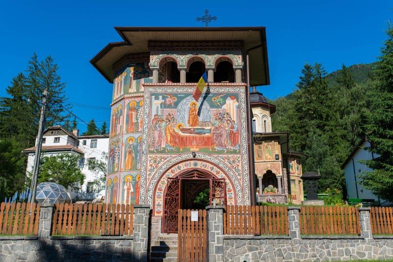 Het vooraanzicht van hand schilderde lokale orthodoxe kerk royalty-vrije stock afbeelding