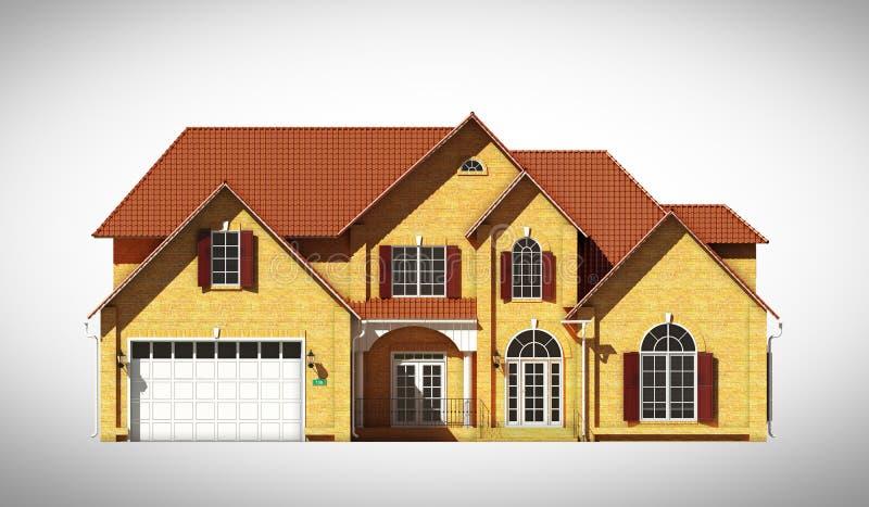 Het vooraanzicht van het huis stock illustratie for Front look of small house