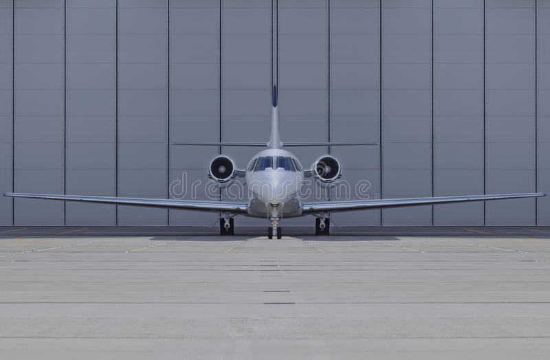 Het vooraanzicht van het vliegtuig royalty-vrije stock fotografie