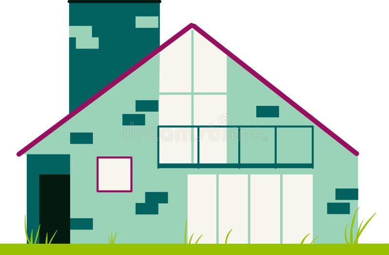 Het vooraanzicht van het huis stock illustratie