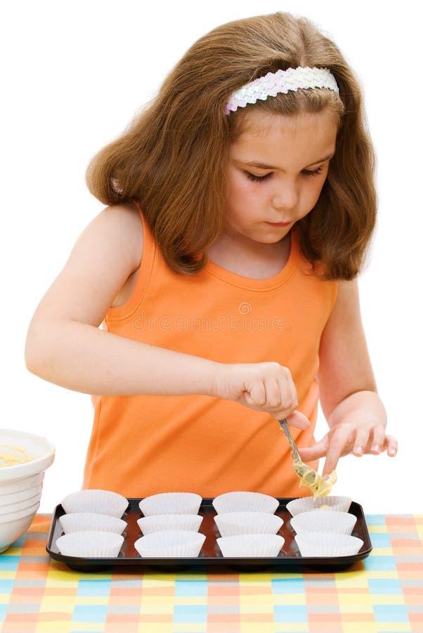 Het voorbereiden van de Cakes stock afbeelding