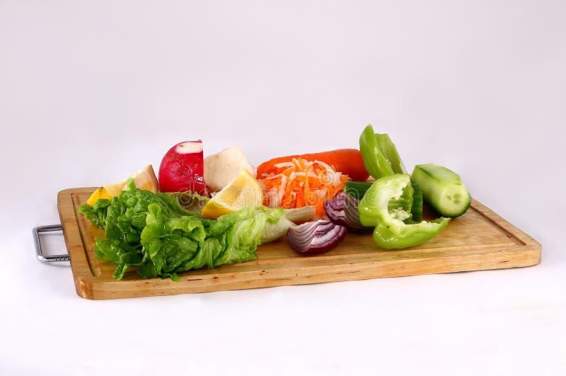 Het voorbereiden van salade royalty-vrije stock foto's