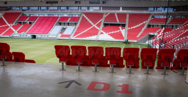 Het voorbereiden van sectie in het Stadion van Debrecen royalty-vrije stock fotografie