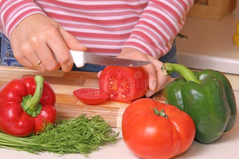 Het voorbereiden van Voedsel royalty-vrije stock afbeelding