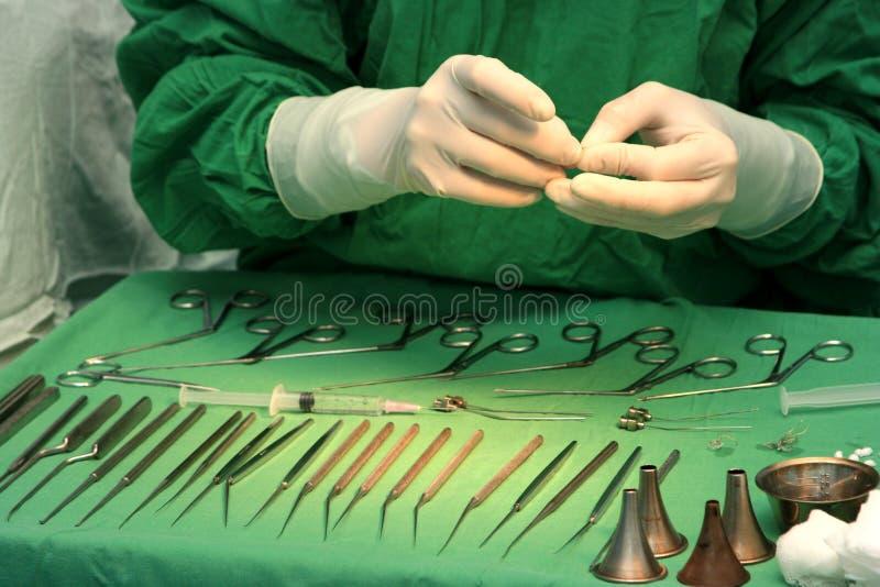 Het voorbereidingen treffen voor chirurgie stock fotografie