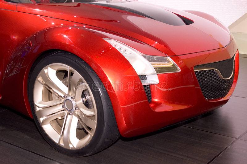Het VoorEind van de futuristische Auto stock afbeeldingen