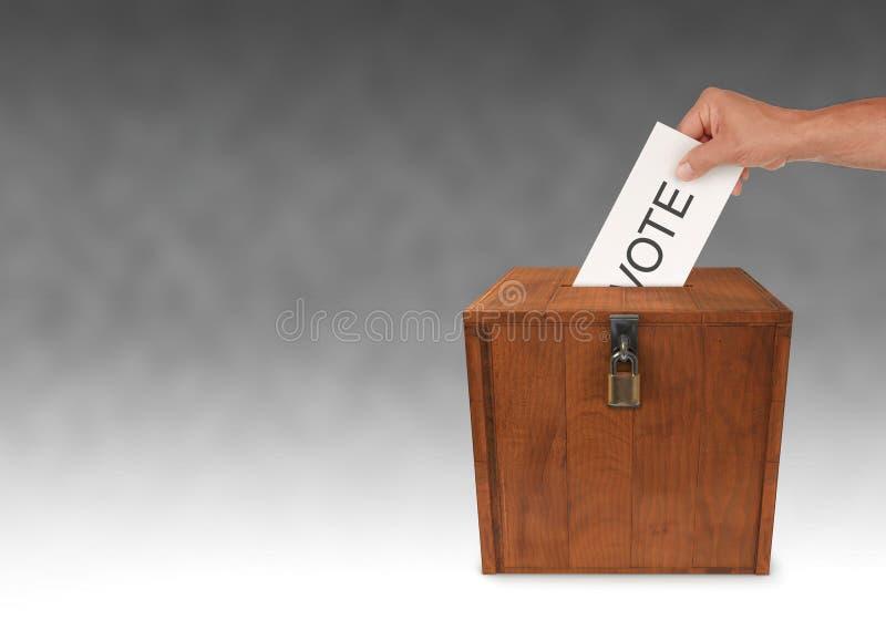 Het voorleggen van een Stem stock foto