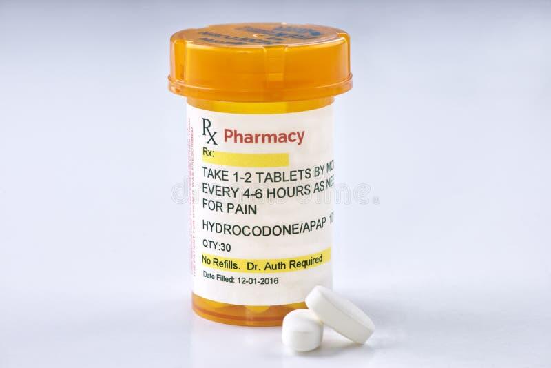 Het Voorschrift van facsimilehydrocodone stock fotografie